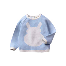 Baby Boys Sweater Autumn winter Knitt cotton children round neck solid Kids Pullover clothes infant baby sweaters 1-5Y #25