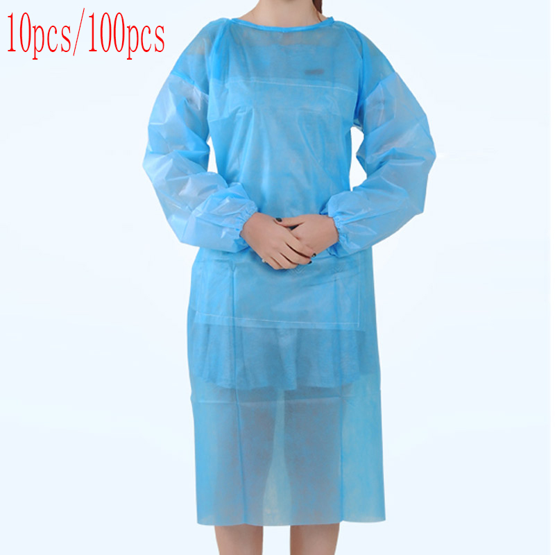 10PCS / 100PCS Disposable Surgical Gowns, Sterile Surgical Gowns, Apron Safety Clothing, Used In Hospitals And Clinics