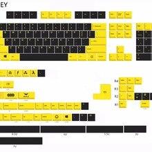 MP Вишневый профиль английская версия краситель-сублимированный желтый и черный Keycap 108 клавиш PBT Keycap для механической клавиатуры
