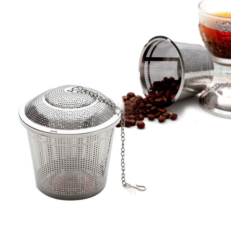 New Tea Strainer Kitchen Stainless Steel Teapot Tea Infuser Filter Teapot With Tray Herbal Tea & Coffee Filter Drinkware