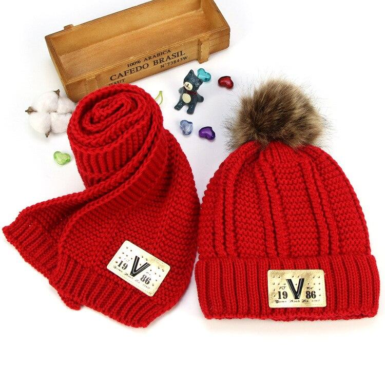 Kids Hats Scarves Girls Boys Nice Gift Winter Hat For Kids Baby  Fleece Lining Warm Set Winter Xmas Gift