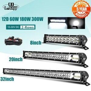 "Image 1 - CO LIGHT Super Slim 12D 8"" 20"" 32"" LED Bar Spot Flood Beam LED Light Bar for Tractor Boat Offroad 4WD 4x4 Trucks SUV ATV 12V 24V"