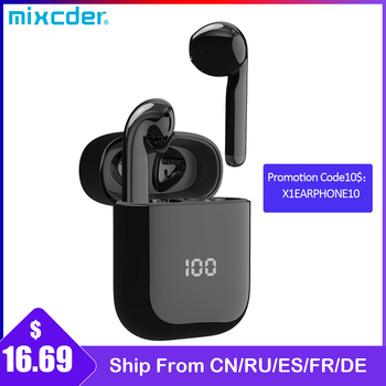 Mixcder X1 TWS Bluetooth Wireless Earphones with 4 Microphone BT5.1 Noise Cancellation Earbuds Sports Earphone 24Hrs Playtime