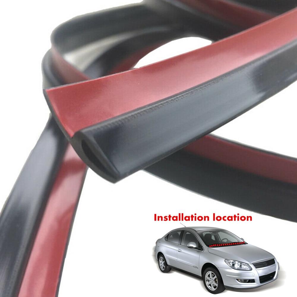 15ft Rubber Edge Trim Strip Car Front Rear Window Sunroof Windshield Waterproof