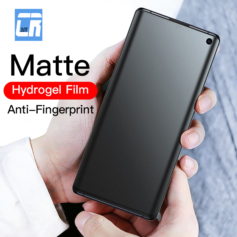 100D No Fingerprint Matte Hydrogel Film For Samsung Galaxy  Note 10 9 8 S10 S9 S8 Plus Screen Protector On Samsung S10e Film