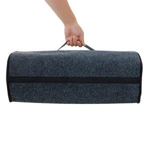 Image 5 - Car Trunk Organizer Soft Felt Storage Box Large Anti Slip Compartment Boot Storage Organizer Tool Bag Car Storage Bag