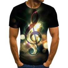 2020 Summer Music And Art Instruments 3d Printed Fashion T -Shirt Unisex Hip -Hop Style T -Shirt Street Casual Summer