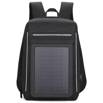 15.6' Laptop Solar Backpack Large IPad Bag USB Charging Business Backpacks Traveling Daypack Anti Theft Backpack 1