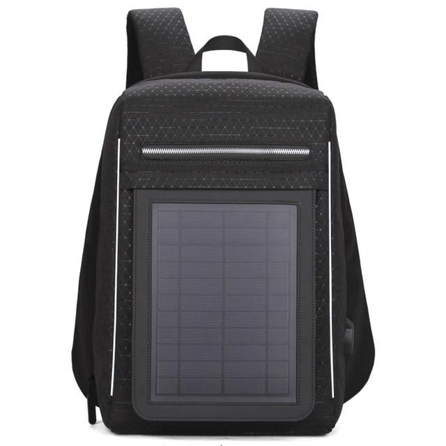 15.6' Laptop Solar Backpack Large IPad Bag USB Charging Business Backpacks Traveling Daypack Anti Theft Backpack 1