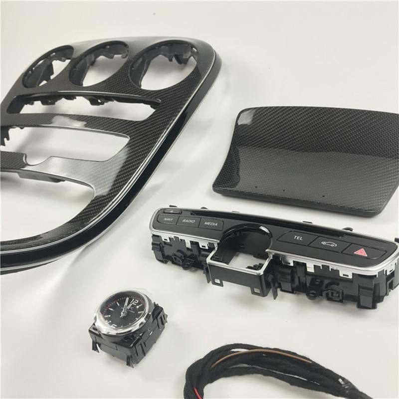 Carbon Fiber Central Control Panel Console Gear Shift Panel Cover Trim For Mercedes-Benz C-Class W205 GLC 63 GLC 43