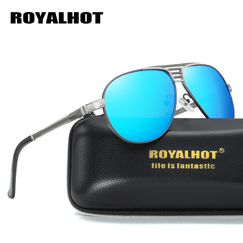 RoyalHot Polarized Oval Aloy Frame Sunglasses Men Women Driving Sun Glasses  Shades Oculos masculino Male 90090