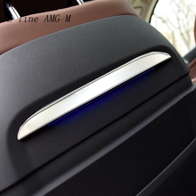 Car Styling For BMW X5 G05 2020 stainless steel Rear Seat Panel Back trim decoration Stickers covers Interior Auto accessories