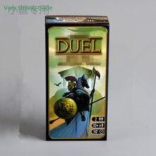 Jeu de plateau 7 Merveilles Extension 7 Wonders Duel 2 Joueur Stratégie Carte Jeu Version Anglaise de Haute qualité De Jeu Double duo