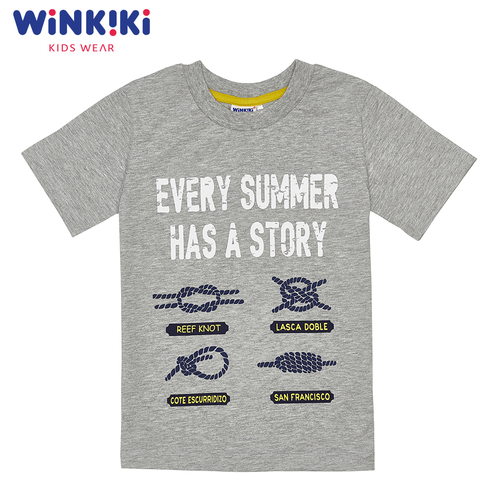 T-Shirts WINKIKI WJB91482 children clothing t-shirt t-short for boys and girls top tunic Cotton  Boys pants kotmarkot 80100 children clothing for girls kid clothes