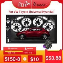 Podofo 2din Autoradio Android Auto Multimedia Speler 2 Din Auto Autoradio Gps Voor Volkswagen Nissan Hyundai Toyota Kia Ford stereo