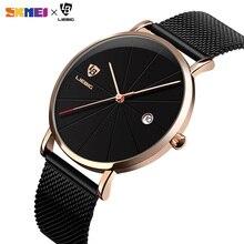 2020  SKMEI Fashion Waterproof Men Wristwatches Business Casual Quartz Watches Relogio Masculino Relojes Para hombre L1004 beinuo relojes hombre relogio qz024 l