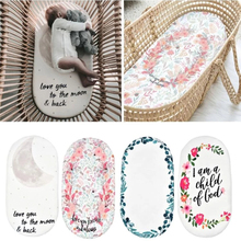 Baby Cradle Sheet Removable Cover Hourglass Bassinet Pads Moses Basket Sheet Bed Crib Care Pad Covers Print Fitted Sheet