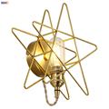 IWHD Nordic Star Cobre Lâmpada de Parede Espelho Do Banheiro Quarto Ao Lado Da Escada Luzes LED de Parede Interruptor de Luz Retro Vintage Luminárias Aplique pared