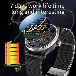 Image 4 - Cobrafly MX9 akıllı saat erkek spor ekg + PPG HRV kalp hızı kan basıncı izleme IP68 su geçirmez bilezik Android IOS için