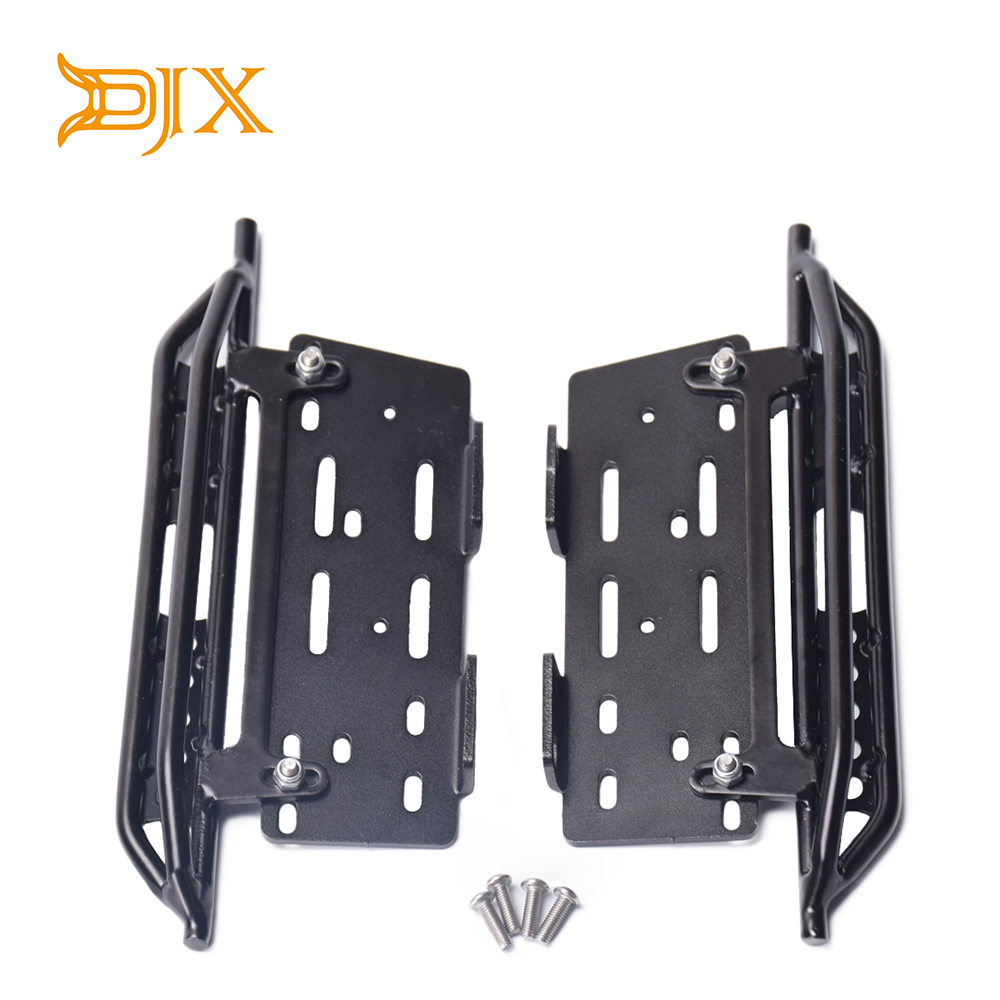 DJX Metal Pedal Foot Side Steps Parts Accessories for 1/10 RC Crawler Car Axial Scx10 SCX10 II 90046 Parts & Accessories     - title=