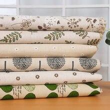 Baskılı pamuklu kumaş çiçek desenli keten kumaş kanepe yastık masa örtüsü malzemesi döşeme