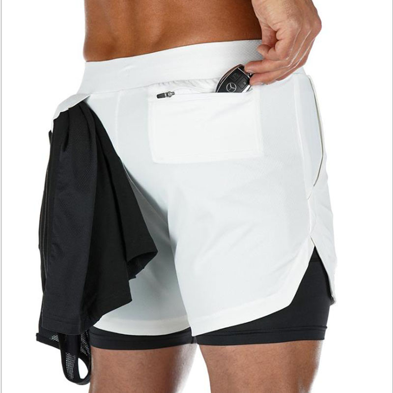 Ultimate SaleRunning Shorts Clothing Bermuda Fitness Double-Deck Male Bottoms Workout Bodybuilding