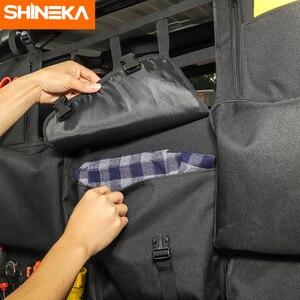 Image 5 - SHINEKA Stowing לסדר עבור ג יפ רנגלר JK JL JT 4 דלת רכב מושב אחורי אחסון תיק תא מטען אביזרי עבור ג יפ רנגלר JK JL JT