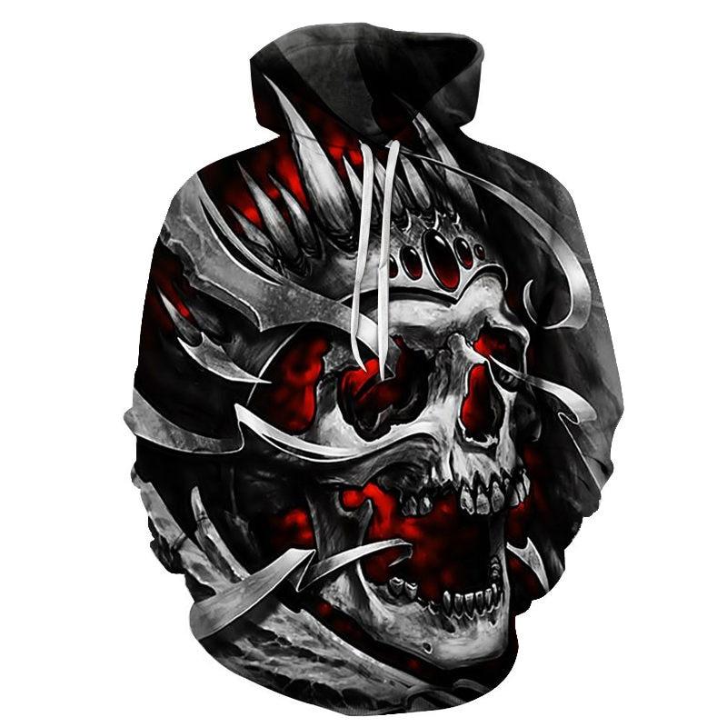New 2019 Custom Unisex Sweatshirt 3D Skull Printed Pullovers Hoodies Dropship Asian Size S-6XL