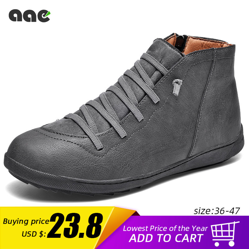 2020 New Men Boots Leather Ankle Boots Women High Quality PU Desert Boots Couples Fluff Men Sneakers Casual Shoes DropshippingMens Casual Shoes   -