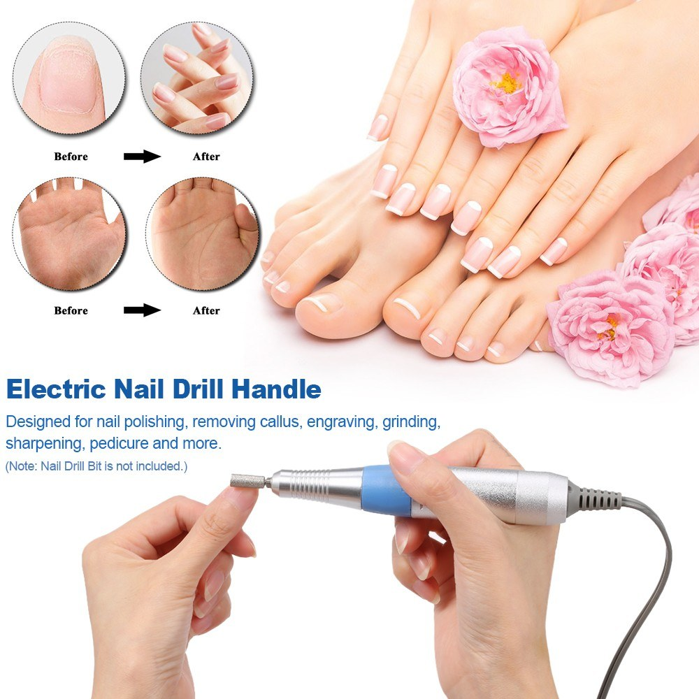 Electric Nail Drill Pen Pro Portable Drill Machine For Manicure Electric Nail Cutter Machine Kit Nail Art Pen Pedicure 30000RPM in Electric Manicure Drills from Beauty Health