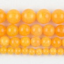 Натуральный желтый нефрит камень круглые бусины для самостоятельного изготовления ювелирных изделий браслет ручной работы 4/6/8/10/12 мм