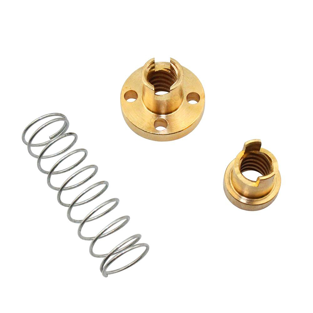 T8 Lead 2/4/8mm Lead Screw With Anti-Backlash Nut Pitch 2mm OD 8mm 100 1000 1200mm T-Type Stepper Motor Trapezoida For 3DPrinter