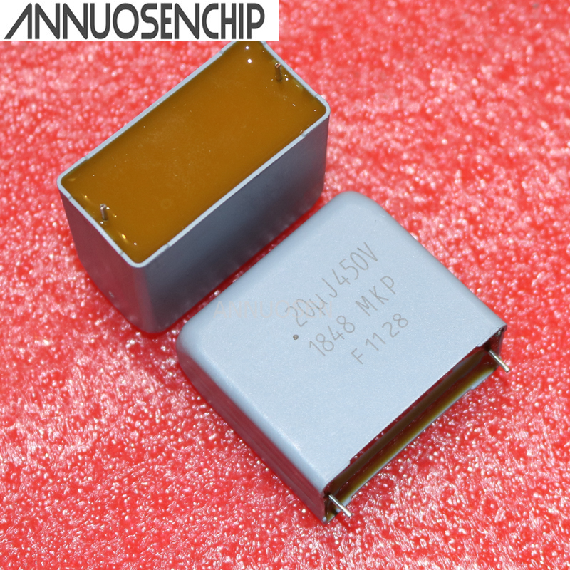 10pcs 20UF DC 450V 450VDC 2pins MKP1848 MKP1848620454P2 Electrodeless capacitor Best Quality
