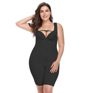 Image 5 - プラスサイズの女性フルボディニッパー痩身 mid 太ももシェイパー fajastummy コントロールシームレス産後ボディガードル