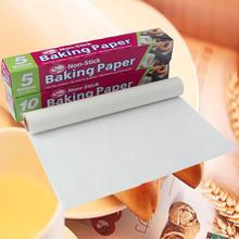 5M 10M Baking Paper Barbecue Double-sided Silicone Oil Parchment Rectangle Oven Sheets Bakery BBQ Party