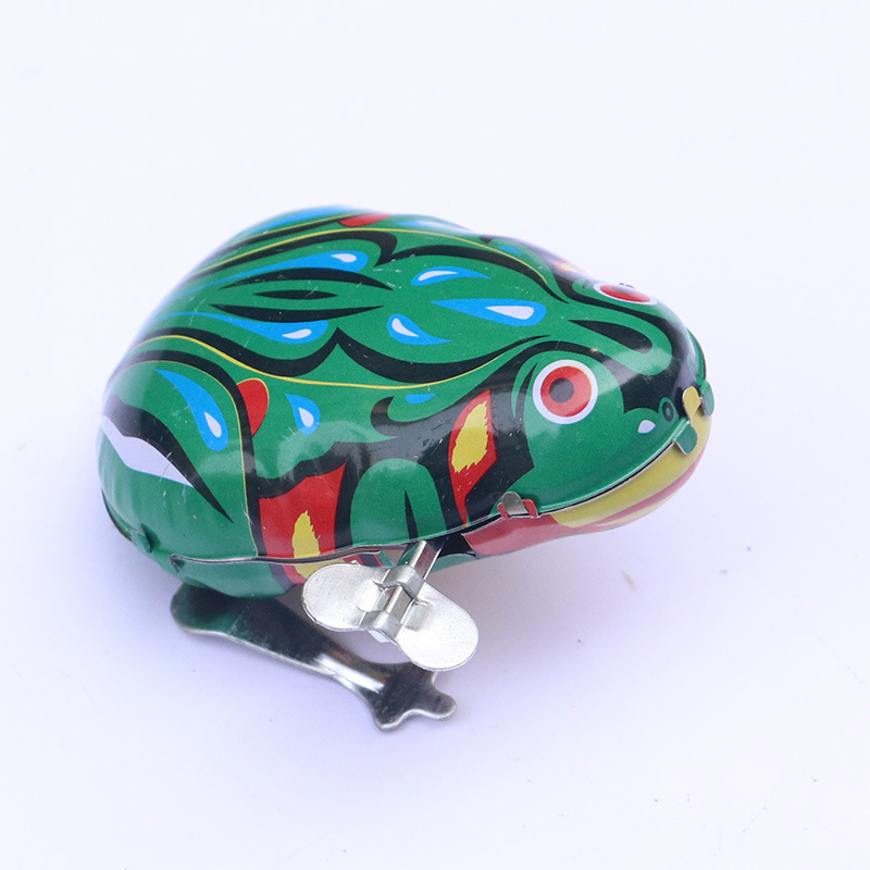 Algam Frog Wind-up Toy Winding Leap Frog Children Small Toy 80 Nostalgic Winding Animal Stall