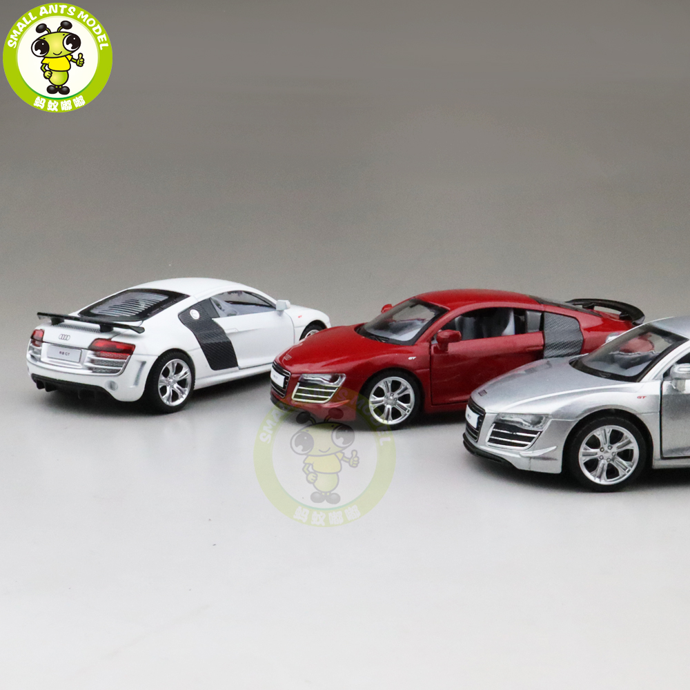 1/32 CAIPO R8 GT Racing Car Diecast Model Toys CAR For Kids Children Sound Lighting Pull Back Gifts