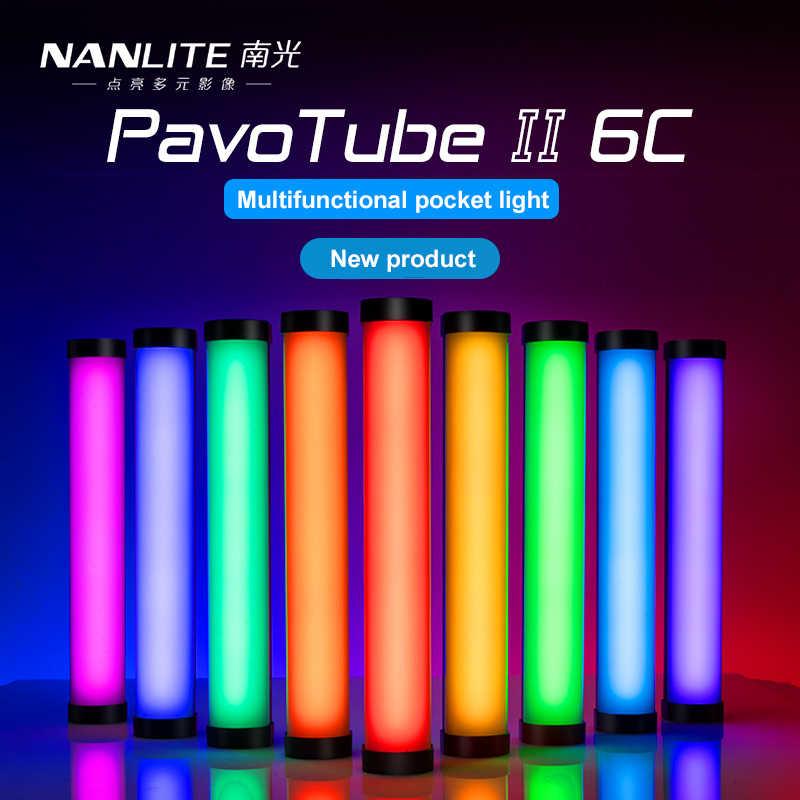 Nanlite PavoTube II 6C LED RGB yumuşak tüp lamba taşınabilir el fotoğraf aydınlatma çubuğu CCT modu fotoğraflar Video Nanguang