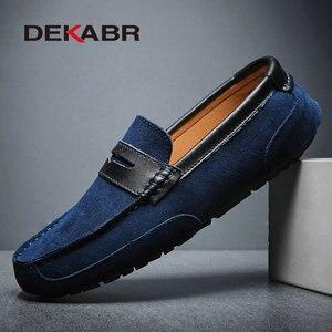 Image 4 - Dekabr Plus Size 47 Lente Zomer Casual Schoenen Mannen Ademende Mannelijke Slip Op Schoeisel Loafers Designer Mannen Schoenen Sapatos Homens