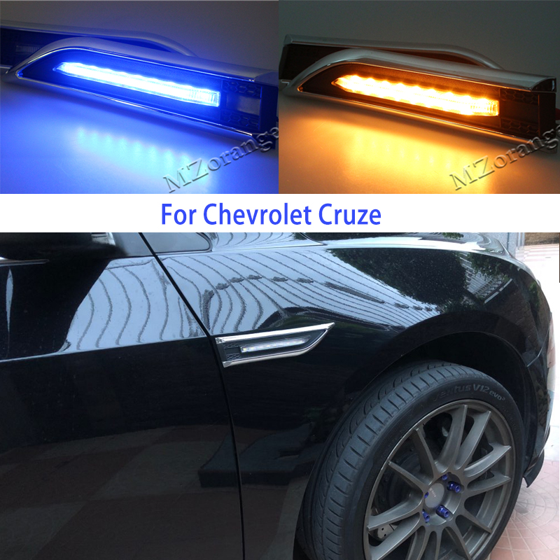 ABS Turn Lights Rearview Side Mirror Cover Trim For Chevrolet Cruze 2017 2018