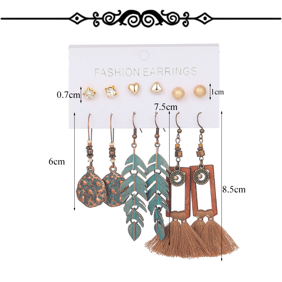 H1c51584eca854648aae69ad68d2bec6cZ - Multiple Women's  Boho Ethnic Drop Earrings