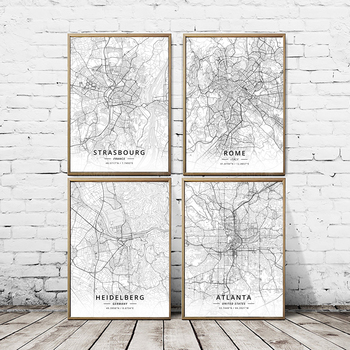 Countries Latitude Longitude Map Home Decor Wall Art Canvas Painting Print Posters Modular Picture Cuadros For Bedroom No Frame image
