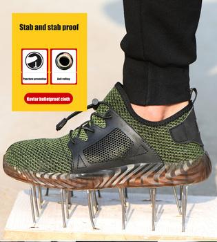 Buty robocze bhp dla mężczyzn letnie oddychające buty robocze ze stali Toe zapobiegające rozbiciu konstrukcja bezpieczeństwo praca rozmiar butów 36-48 tanie i dobre opinie CINESSD Pracy i bezpieczeństwa CN (pochodzenie) Mesh (air mesh) ANKLE Stałe Dla dorosłych Stretch Spandex Okrągły nosek