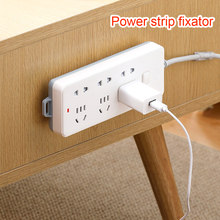 Power Strip Pemegang Organizer Kabel Punch-Gratis Plug Fixer Self-Adhesive Socket Fixer Rumah Penyimpanan Dinding dipasang Organizer(China)