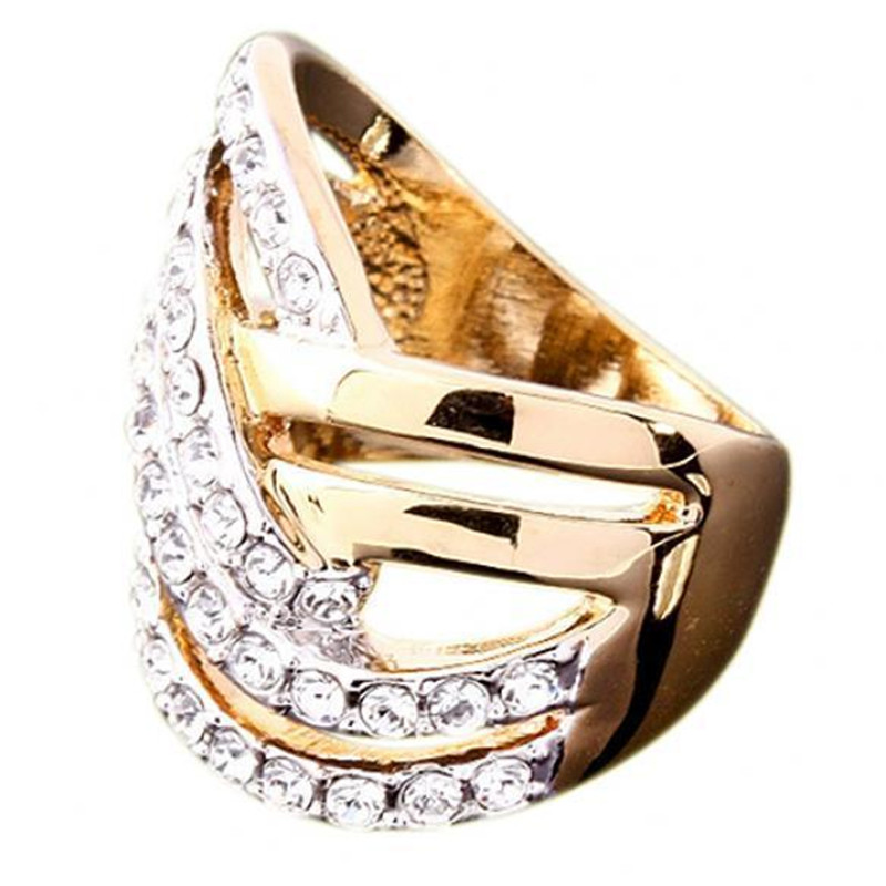 FDLK   Women Luxury Alloy Finger Band Inlaid Ring Jewelry Gift