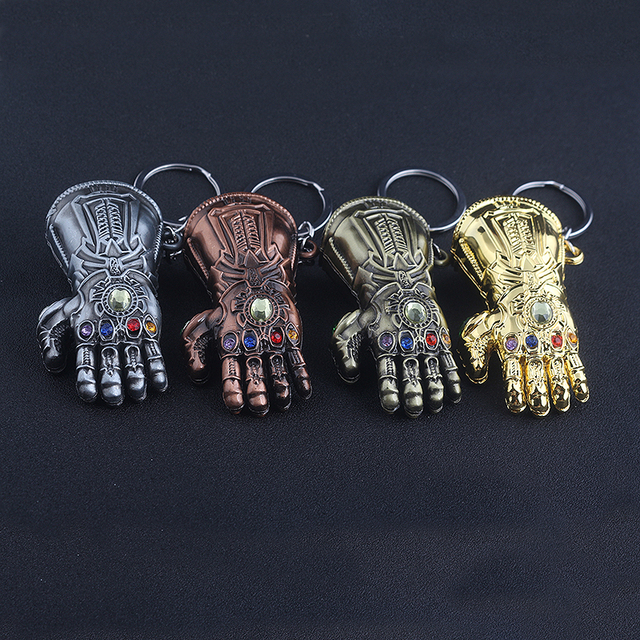 The Avengers Thanos Gauntlet Keychain Infinity War Thanos Infinite Power Glove Keyring Men Car Chaveiro 1