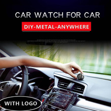 Car Clock Auto Ornament Car Accessories Stick-on Digital Watch AC Outlet Vent Clip Clock Dashboard Digital Refit Watch With Logo