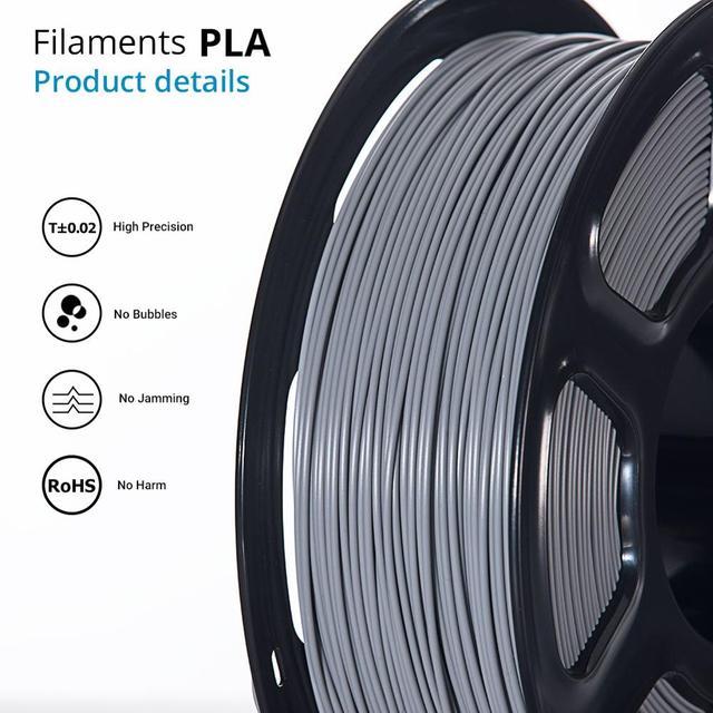 TOPZEAL 3D Printer PLA Filament 1.75mm Filament Dimensional Accuracy +/-0.02mm 1KG 343M 2.2LBS 3D Printing Material for RepRap 1