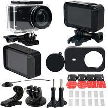 лучшая цена 30 Pcs/set Full Protect Waterproof Sport Camera Housing Case Kit for Xiaomi Mijia 4K Mini Camera Waterproof Case Sets