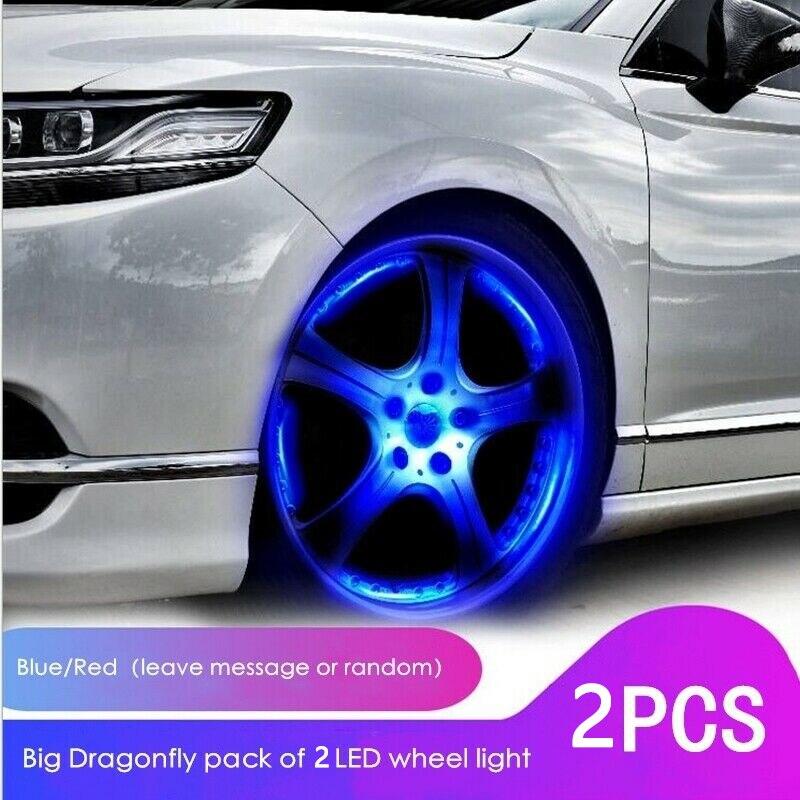 2 uds impermeable Auto brillante coche rueda neumático luz lámpara de cubo de aire vástago de válvula LED luz con tapa cubierta Luz de estilo de coche|Lámpara decorativa|   - AliExpress